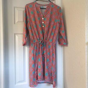 3/4 Sleeve Drawstring Dress